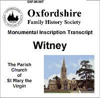 MI CD for Witney, St Mary the Virgin