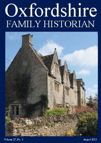August 2013 Oxfordshire Family Historian