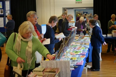 Pat Ford on the OFHS bookstall