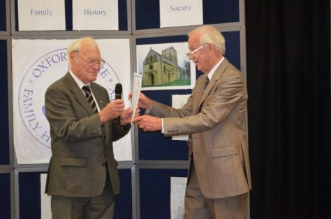Presentation of the Certificate of Recognition to Hugh Kearsey 2013
