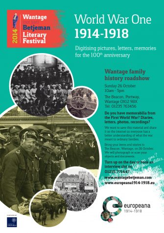 Europeana Collection event, Sunday, 26 October in Wantage