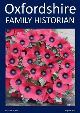 Cover of OFH vol 28 no 2 August 2014 showing poppy wreath