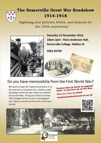 Europeana event - in Somerville College, Oxford, Saturday 15 November