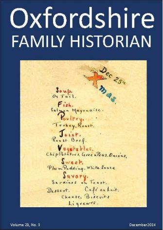 December 2014 Oxfordshire Family Historian