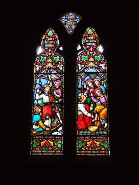 Stained glass window at Milcombe