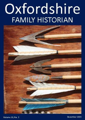 December 2015 Oxfordshire Family Historian