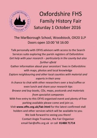 Oxfordshire FHS Fair, 1 October 2016