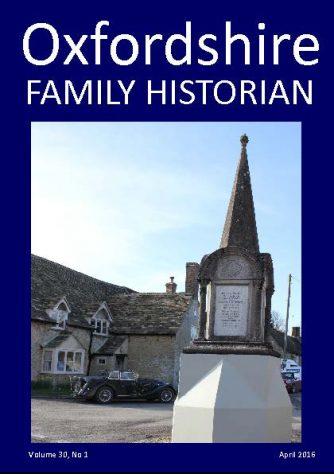 April 2016 Oxfordshire Family Historian