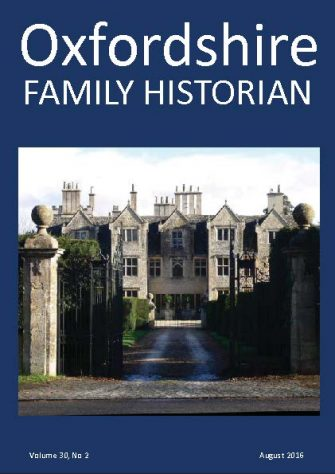 August 2016 Oxfordshire Family Historian