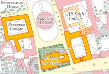 British Historic Towns Atlas' map of the Radcliffe Square