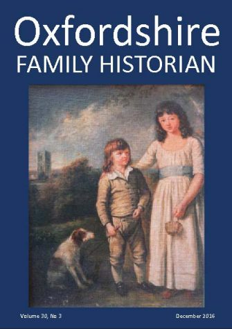 December 2016 Oxfordshire Family Historian