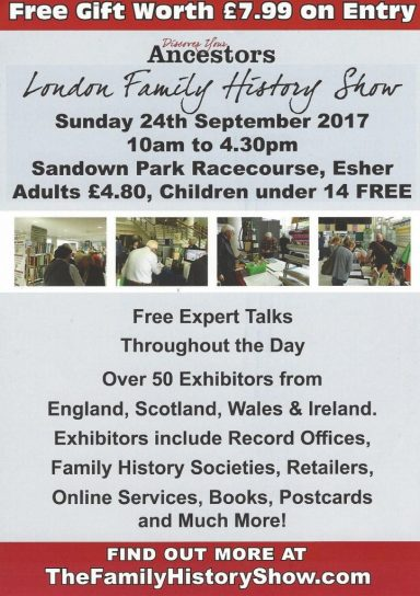 London Family History show poster 2017