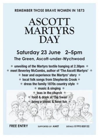Ascott Martyrs' Day, June 23rd, Ascott-under-Wychwood