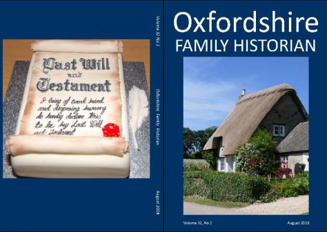 August 2018 Oxfordshire Family Historian