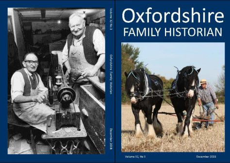 December 2018 Oxfordshire Family Historian