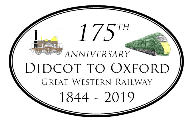 Didcot to Oxford Great western railway 175th anniversary logo with old and new trains