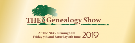 The Genealogy Show - NEC, Birmingham 7 & 8 June 2019