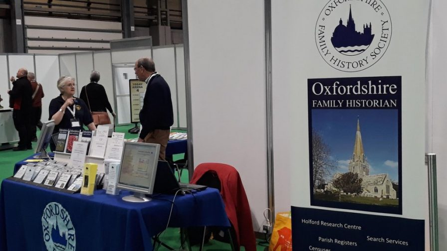 OFHS stand at The Genealogy Show 2019 at NEC