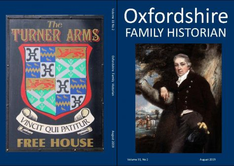 August 2019 Oxfordshire Family Historian