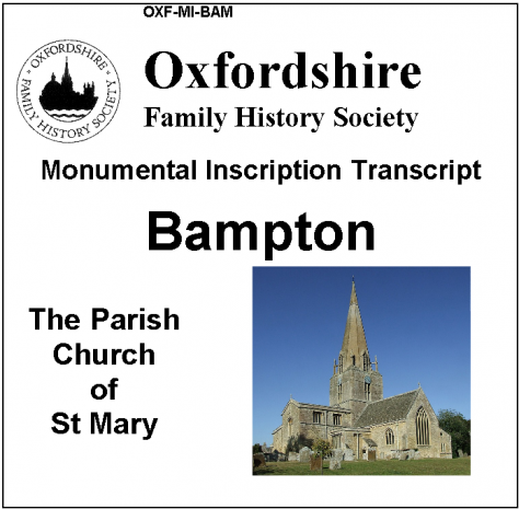 Oxfordshire FHS new CD of Bampton MIs